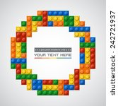 template of gloss symmetric...   Shutterstock .eps vector #242721937