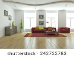 White Modern Interior 3d...