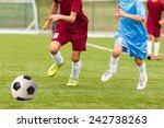 football match for children....   Shutterstock . vector #242738263
