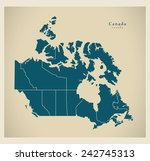modern map   canada with... | Shutterstock .eps vector #242745313