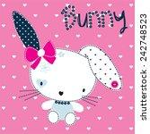 Bunny Girl Vector Illustration