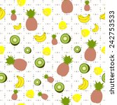 seamless pattern with doodle... | Shutterstock .eps vector #242753533