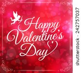 happy valentines day card.... | Shutterstock .eps vector #242757037