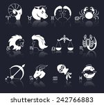 zodiac constellation astrology... | Shutterstock .eps vector #242766883