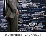 bottom view of businessman with ... | Shutterstock . vector #242770177