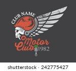 motor skull sticker graphic and ...