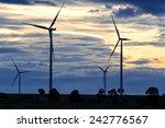 field of wind turbine  thailand | Shutterstock . vector #242776567