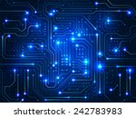 vector. digital technologies... | Shutterstock .eps vector #242783983