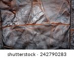 crumpled brown leather... | Shutterstock . vector #242790283