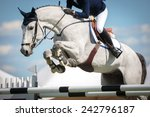 Stock photo equestrian sports horse jumping show jumping horse riding themed photo 242796187