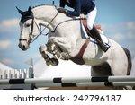 horse jumping | Shutterstock . vector #242796187