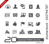 social web icons    basics | Shutterstock .eps vector #242796787