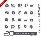 online store icons    basics | Shutterstock .eps vector #242796793
