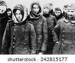 Постер, плакат: German prisoners among the