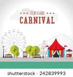 carnival design over white...   Shutterstock .eps vector #242839993