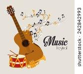music design over gray... | Shutterstock .eps vector #242842993