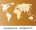 vector drawing world map for... | Shutterstock .eps vector #242864173