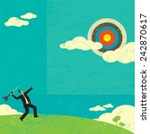 aiming for a high target... | Shutterstock .eps vector #242870617
