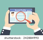 search social profile  tablet... | Shutterstock .eps vector #242884993