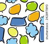 speech bubbles seamless pattern ... | Shutterstock .eps vector #242897893