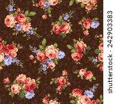 pattern of rose  | Shutterstock .eps vector #242903383