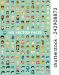 faces icons mega pack  flat... | Shutterstock .eps vector #242908873