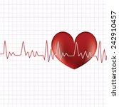 heart cardiogram with heart | Shutterstock .eps vector #242910457