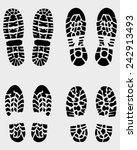 black prints of shoe  vector... | Shutterstock .eps vector #242913493
