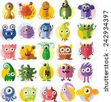 cartoon cute monsters  | Shutterstock .eps vector #242934397