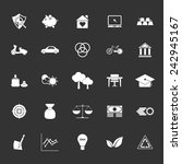 sufficient economy icons on... | Shutterstock .eps vector #242945167