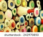 wooden crayons. different than... | Shutterstock . vector #242970853