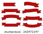 red ribbon banner set | Shutterstock .eps vector #242972197