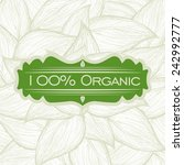 natural product design  vector... | Shutterstock .eps vector #242992777