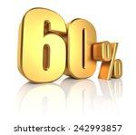 60 percent on white background. ... | Shutterstock . vector #242993857