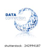abstract network connection.... | Shutterstock . vector #242994187