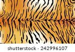 tiger fur texture   Shutterstock .eps vector #242996107