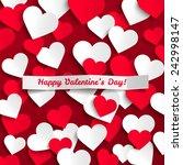 valentine vector illustration ... | Shutterstock .eps vector #242998147