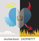 guatemala background of a heart ... | Shutterstock .eps vector #242998777