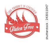 gluten free design  vector...   Shutterstock .eps vector #243011047