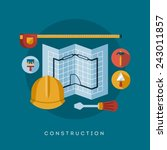 construction icons and symbols  ...