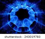 Постер, плакат: Galactic layers in space