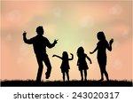 family silhouettes | Shutterstock .eps vector #243020317