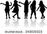 children silhouettes | Shutterstock .eps vector #243020323