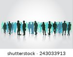 people silhouettes group | Shutterstock .eps vector #243033913