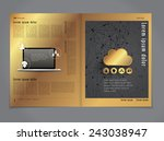 layout magazine  vector  | Shutterstock .eps vector #243038947