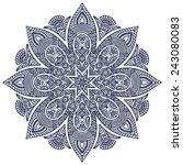mandala. vintage decorative... | Shutterstock .eps vector #243080083