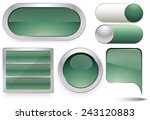 buttons set | Shutterstock .eps vector #243120883