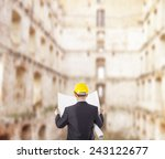 back view architect look... | Shutterstock . vector #243122677