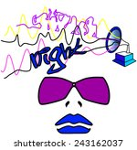 illustration nightclub | Shutterstock . vector #243162037