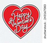 happy valentine's day lettering ... | Shutterstock .eps vector #243167083